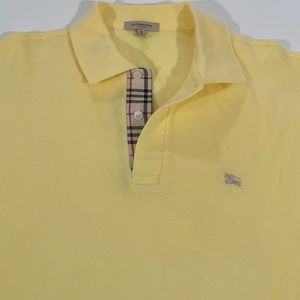 BURBERRY Men's YELLOW + NOVA POLO SHIRT MEDIUM
